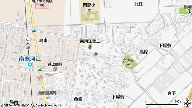 山形県寒河江市高屋西浦32周辺の地図