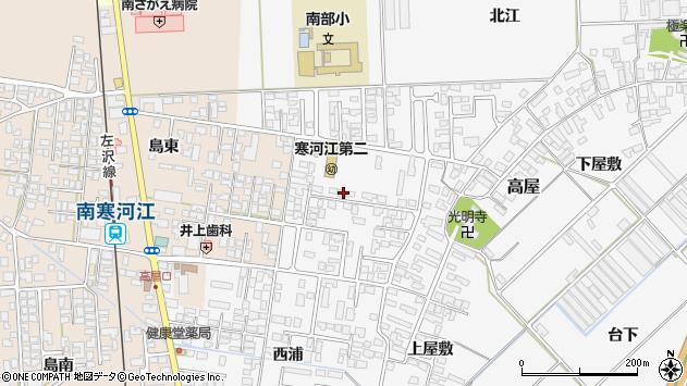山形県寒河江市高屋西浦31周辺の地図
