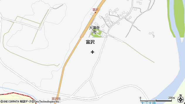 山形県西村山郡大江町富沢164周辺の地図