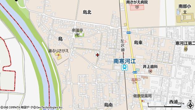 山形県寒河江市島187周辺の地図