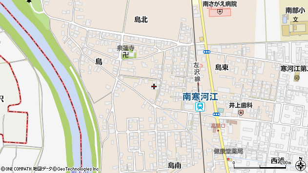 山形県寒河江市島186周辺の地図