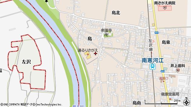 山形県寒河江市島164周辺の地図