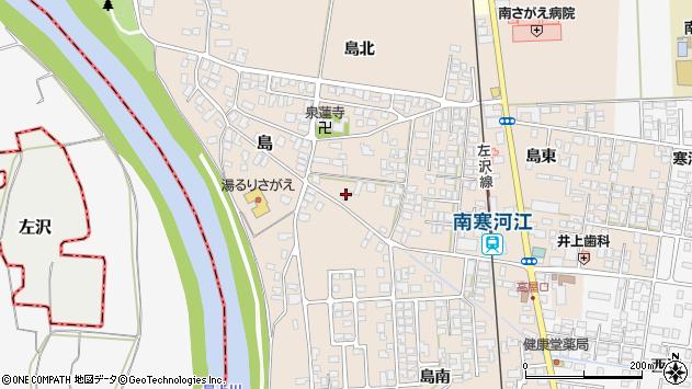 山形県寒河江市島175周辺の地図