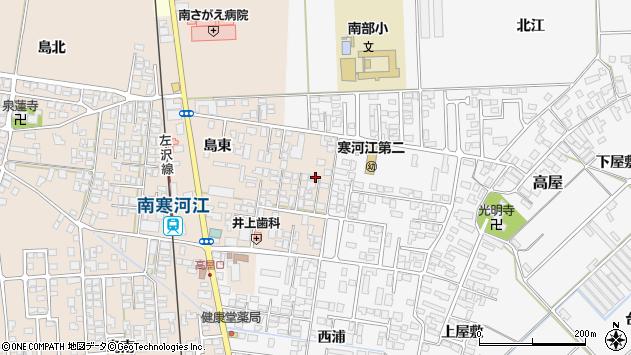 山形県寒河江市島島東205周辺の地図