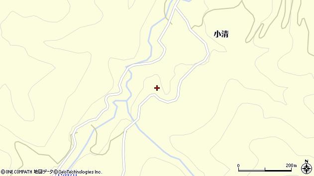 山形県西村山郡大江町小清小清周辺の地図