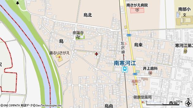 山形県寒河江市島185周辺の地図
