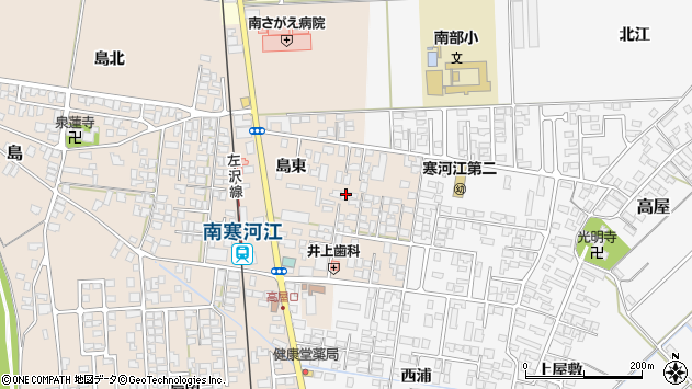 山形県寒河江市島島東213周辺の地図