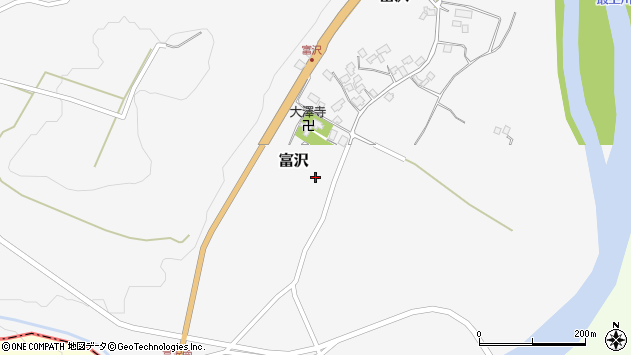 山形県西村山郡大江町富沢152周辺の地図