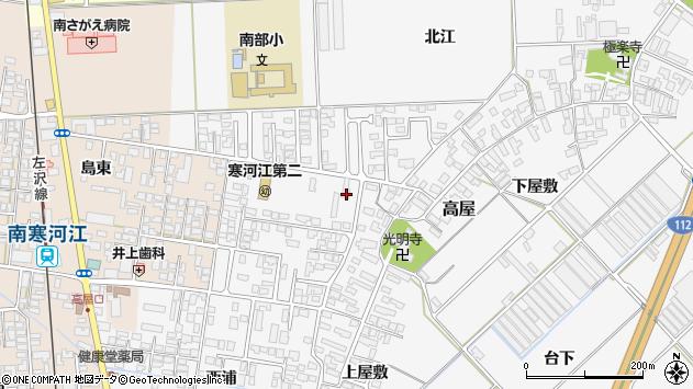 山形県寒河江市高屋西浦2周辺の地図