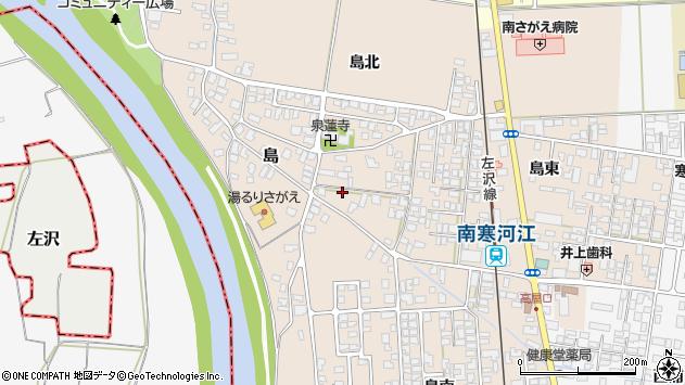 山形県寒河江市島島周辺の地図