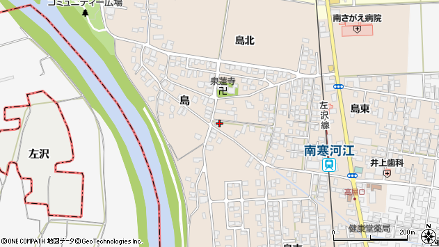 山形県寒河江市島174周辺の地図