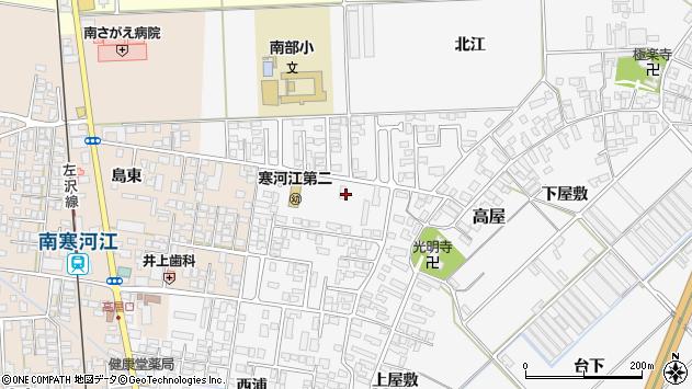 山形県寒河江市高屋西浦13周辺の地図