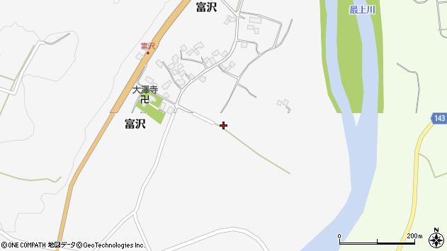 山形県西村山郡大江町富沢489周辺の地図