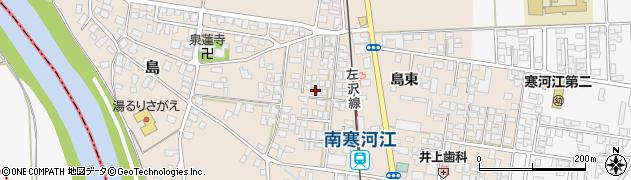 山形県寒河江市島19周辺の地図