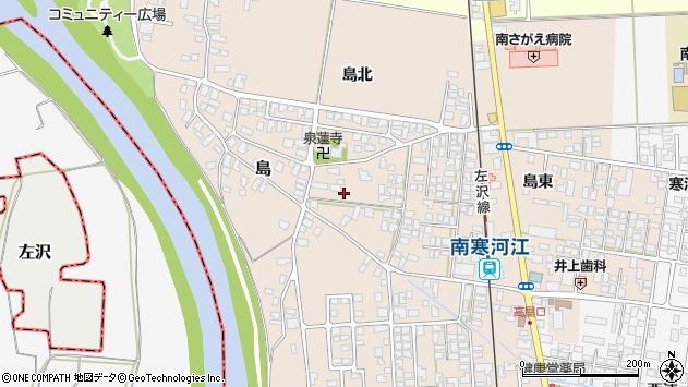 山形県寒河江市島171周辺の地図