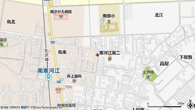 山形県寒河江市島203周辺の地図