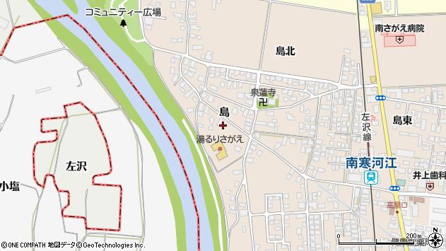 山形県寒河江市島155周辺の地図