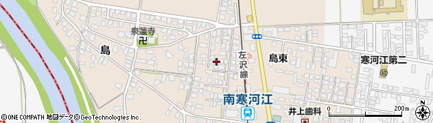 山形県寒河江市島島東19周辺の地図