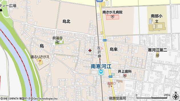山形県寒河江市島17周辺の地図