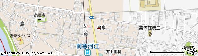 山形県寒河江市島島東148周辺の地図