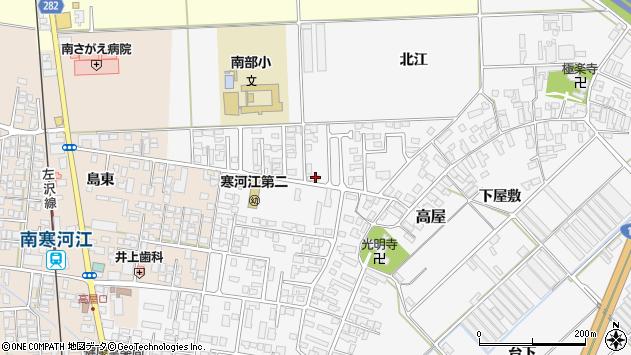 山形県寒河江市高屋北江72周辺の地図