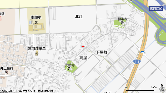 山形県寒河江市高屋372周辺の地図