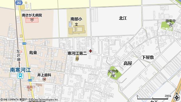 山形県寒河江市高屋北江26周辺の地図