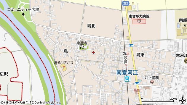 山形県寒河江市島177周辺の地図