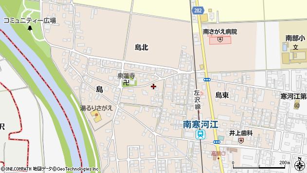 山形県寒河江市島180周辺の地図