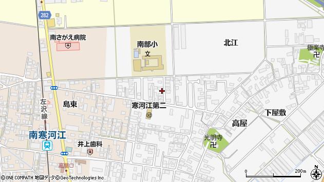 山形県寒河江市高屋北江23周辺の地図