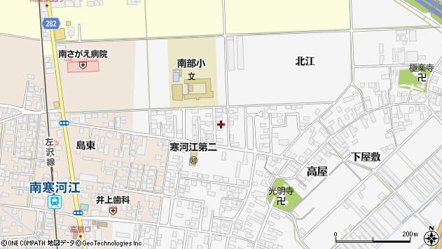 山形県寒河江市高屋北江25周辺の地図