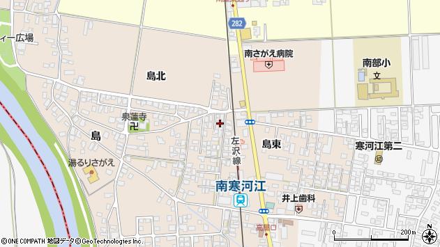 山形県寒河江市島島東3周辺の地図