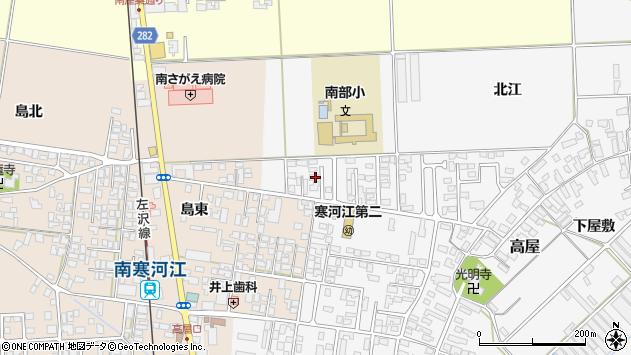 山形県寒河江市高屋北江18周辺の地図