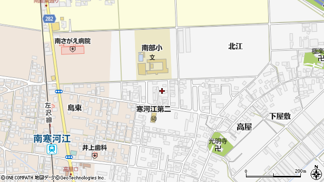 山形県寒河江市高屋北江22周辺の地図