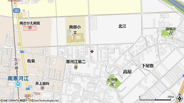 山形県寒河江市高屋北江58周辺の地図