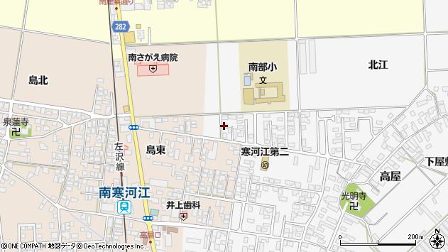 山形県寒河江市高屋北江15周辺の地図