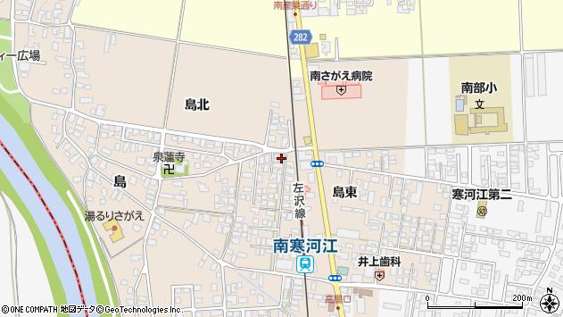 山形県寒河江市島3周辺の地図