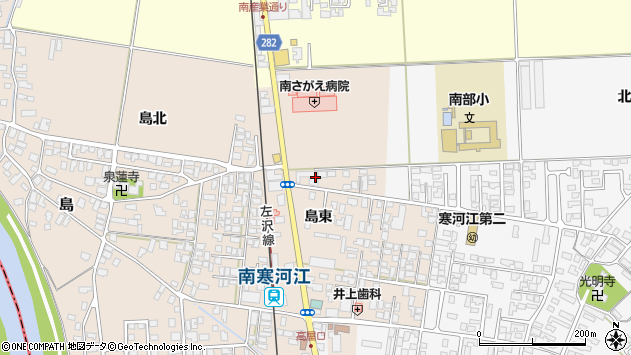 山形県寒河江市島島東112周辺の地図
