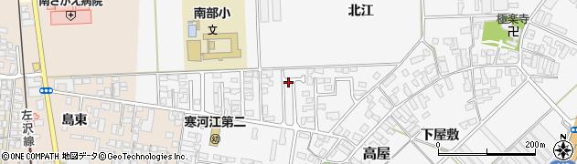 山形県寒河江市高屋北江59周辺の地図