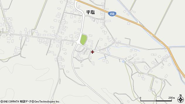 山形県寒河江市平塩424周辺の地図