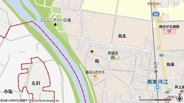 山形県寒河江市島124周辺の地図