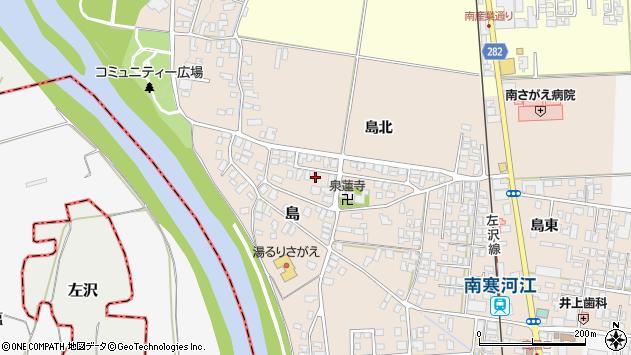 山形県寒河江市島62周辺の地図