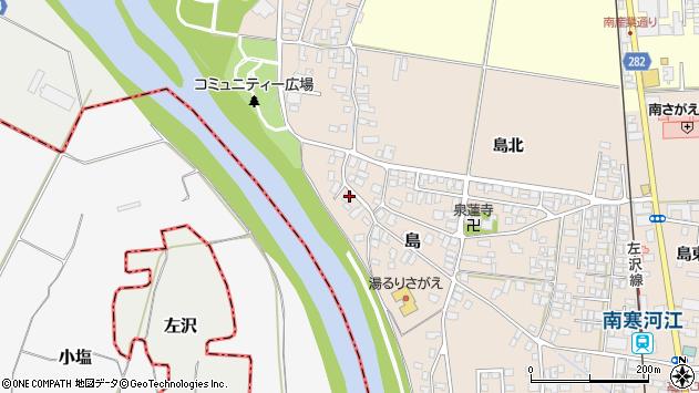 山形県寒河江市島140周辺の地図