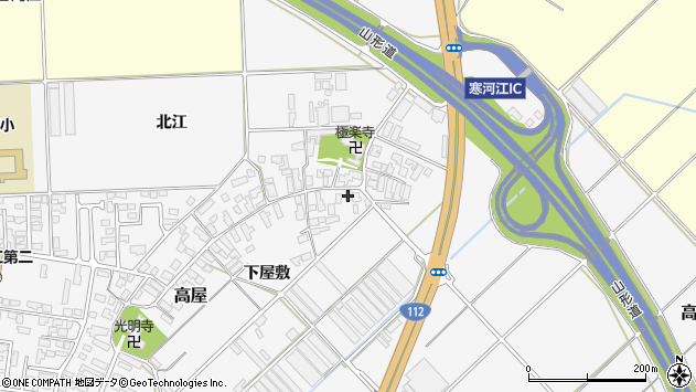 山形県寒河江市高屋330周辺の地図
