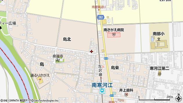 山形県寒河江市島28周辺の地図