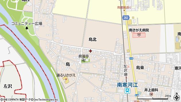 山形県寒河江市島59周辺の地図