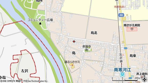 山形県寒河江市島島北62周辺の地図