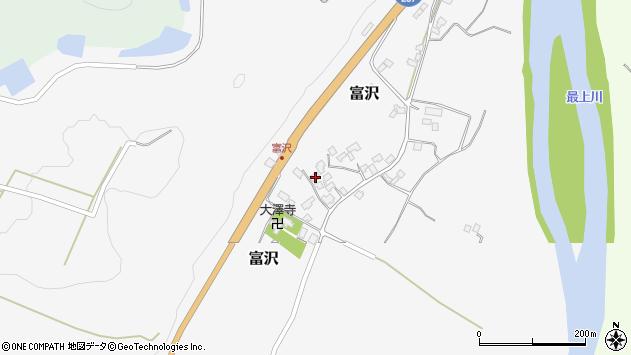 山形県西村山郡大江町富沢112周辺の地図