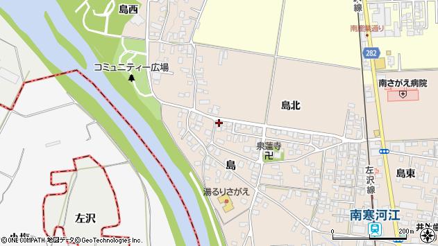 山形県寒河江市島67周辺の地図