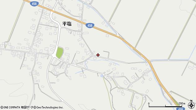 山形県寒河江市平塩495周辺の地図